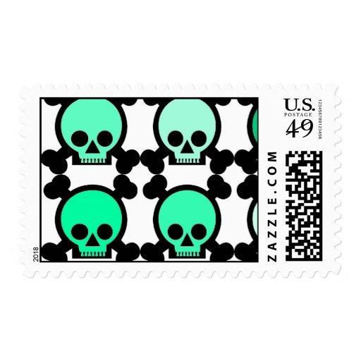 Skullies verde sello