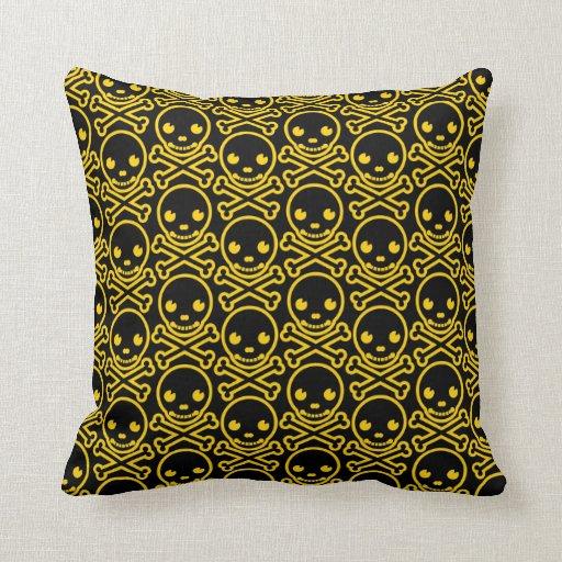 SkullKrush™ 30s Unrefined Gold Throw Pillows