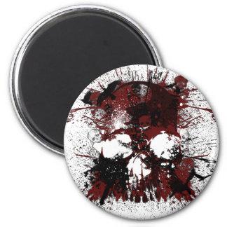 Skullmania 2 Inch Round Magnet