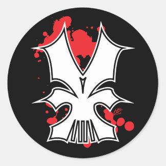 SkullMech Classic Round Sticker
