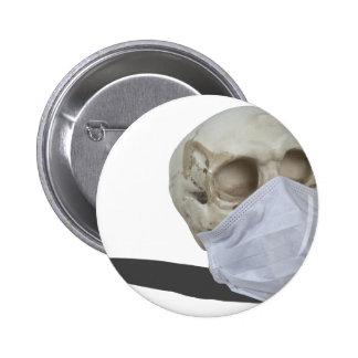 SkullMedicalMask051213.png Pinback Button
