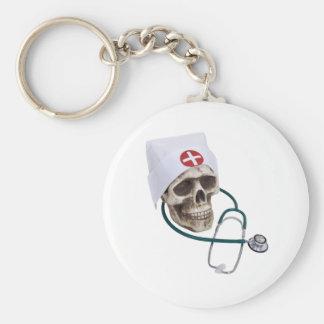 SkullNurse082309 Keychain