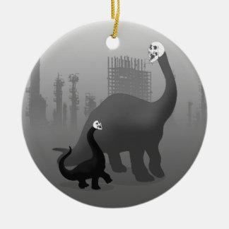 Skullosaurus Mother & Child Ceramic Ornament