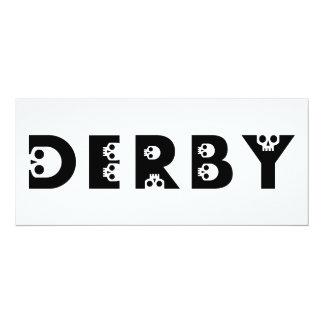 """skullphabet de derby invitación 4"""" x 9.25"""""""