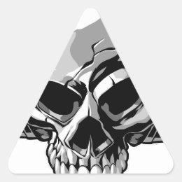 Skullphones Triangle Sticker