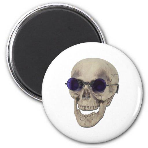 SkullPurpleGlasses121611 2 Inch Round Magnet