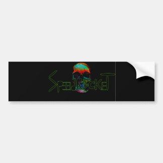 Skullrocket Car Bumper Sticker