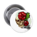 skullrose 2 inch round button