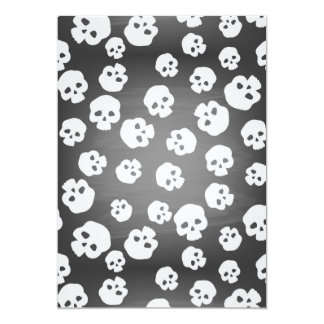 Skulls 5x7 Paper Invitation Card