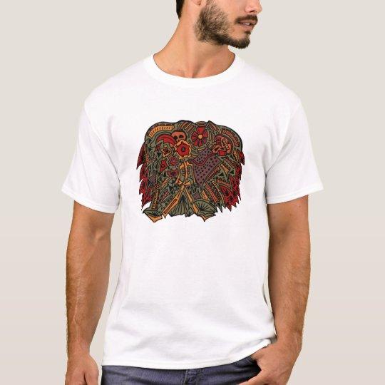 skulls abstract women's T-shirt