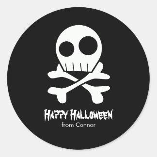 Skulls and Bones Kids Halloween Classic Round Sticker