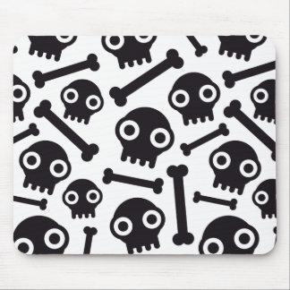 skulls and bones mouse pad