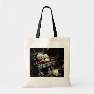 Skulls and Bones on Throne Canvas Bag