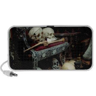 Skulls and Bones on Throne. Mp3 Speakers