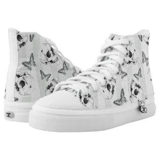 Skulls and butterflies High-Top sneakers