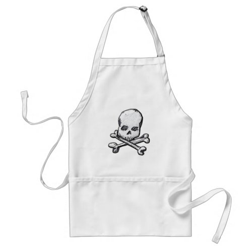 Skulls and Cross Bones Adult Apron