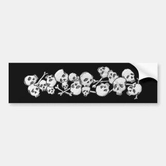 Skulls and Cross Bones Bumper Sticker