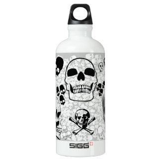 skulls and crossbones aluminum water bottle