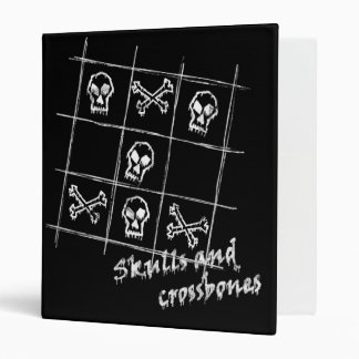 skulls and crossbones Binder