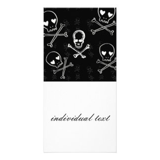 skulls and crossbones black card