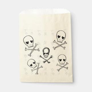 skulls and crossbones favor bag