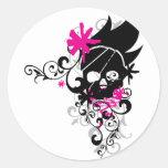 Skulls-and-Curls Classic Round Sticker