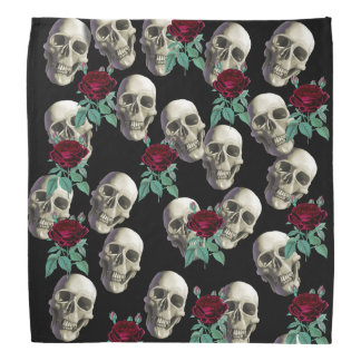 Skulls and Flowers Bandana