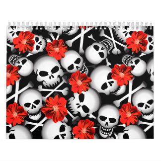 Skulls and flowers calendar