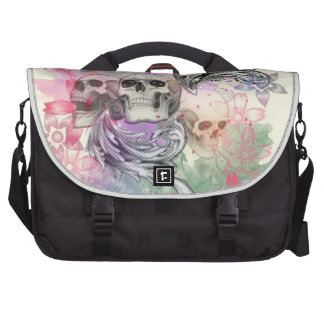 Skulls and Flowers Computer Bag