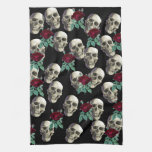 Skulls and Flowers Hand Towels