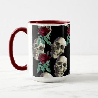 Skulls and Flowers Mug
