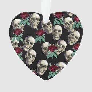 Skulls and Flowers Ornament