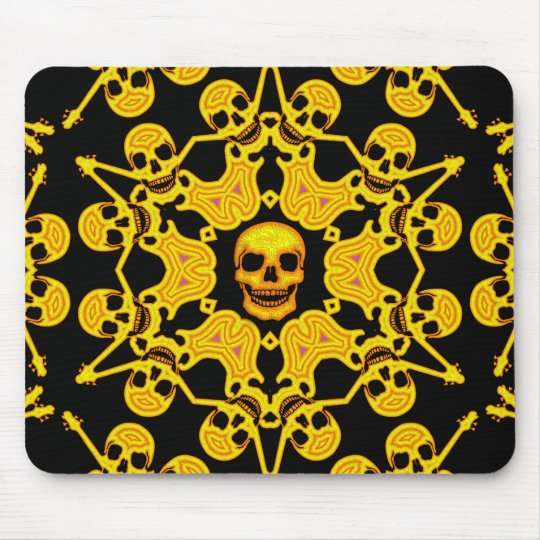 SKULLS AND GUITARS FANTASY MOUSE PAD