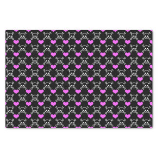 Skulls and Hearts Tissue Paper