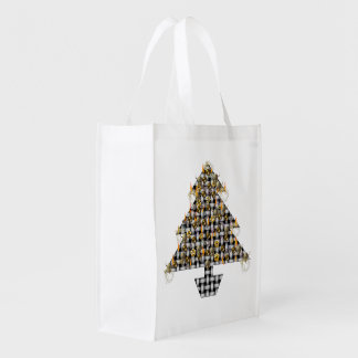Skulls and Metal Tree Reusable Grocery Bags
