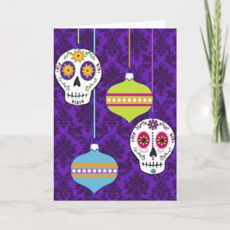 Skulls and Ornaments Card