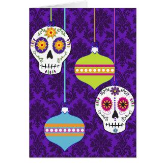 Skulls and Ornaments Card