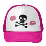 Skulls and Pink Kisses Trucker Hats