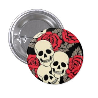 Skulls and Roses Button