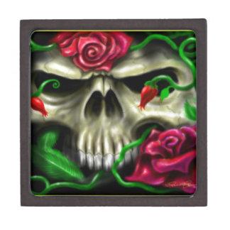 Skulls and Roses Custom Airbrush Original Artist Premium Jewelry Box