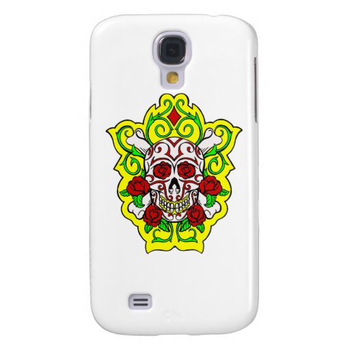 skulls and roses galaxy s4 covers