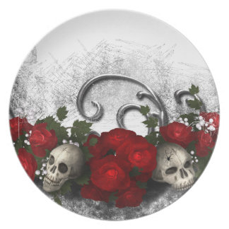 Skulls and Roses Plates