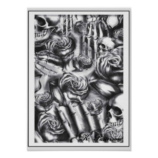 Skulls and Roses Posters