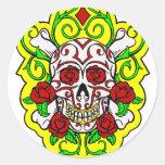 skulls and roses sticker