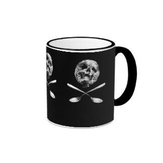 Skulls and Spoons Ringer Coffee Mug