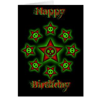 Skulls and Stars Birthday Card