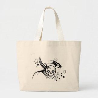 Skulls and Stars Large Tote Bag