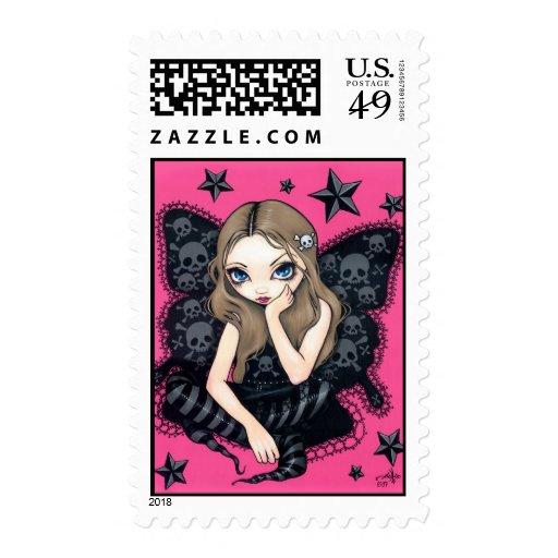 """Skulls and Stars"" Stamp"