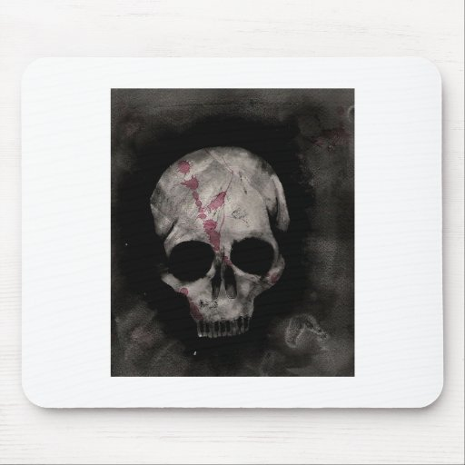 skulls and stripes mouse pad