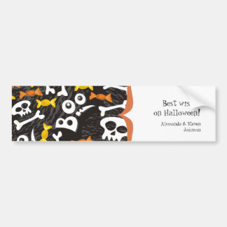 skulls and sweets bumper sticker